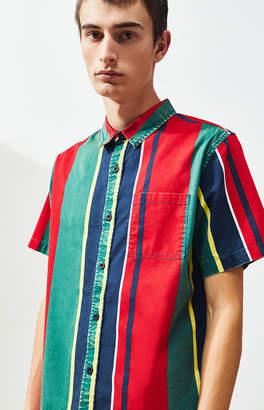 PacSun Redd Stripe Short Sleeve Button Up Shirt