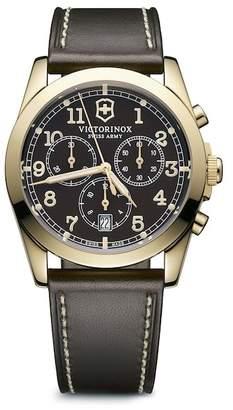 Victorinox Men's Infantry Chronograph Leather Strap Watch, 40mm