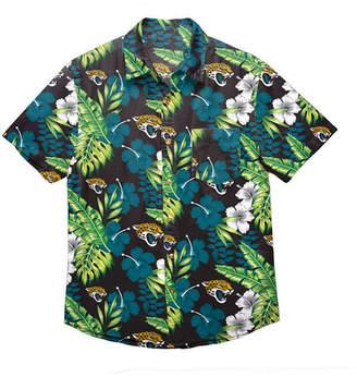 Forever Collectibles Men Jacksonville Jaguars Floral Camp Shirt