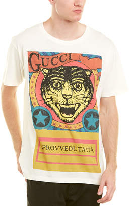 Gucci Tiger Print Cotton T-Shirt
