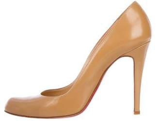 Christian Louboutin Leather Semi Pointed-Toe Pumps