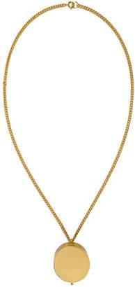 Vetements Gold Monogram Grinder Necklace