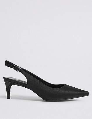 Marks and Spencer Kitten Heel Buckle Slingback Court Shoes