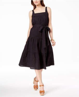 Michael Kors Cotton Tiered Dress, Created for Macy's