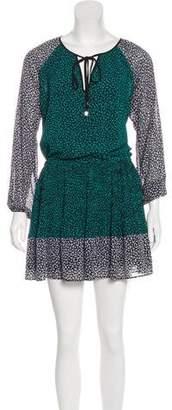 MICHAEL Michael Kors Printed Long Sleeve Mini Dress