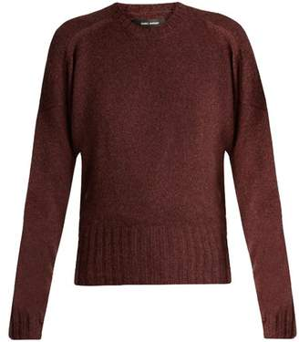 Isabel Marant Denver Wool Blend Sweater - Womens - Burgundy