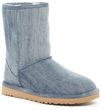 UGG Australia Classic Short Washed Denim UGGpure(TM) Lined Boot $164.95 thestylecure.com