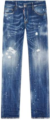 DSQUARED2 Acid Spot Distressed Slim Jeans