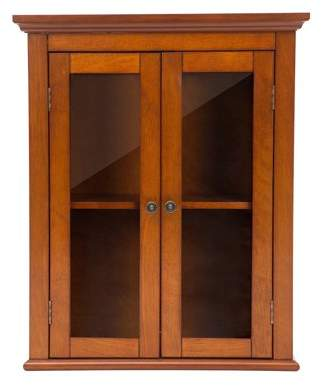 """URBAN RESEARCH Glitzhome 24.1""""H Wooden Bathroom Wall Storage Cabinet with Double"""