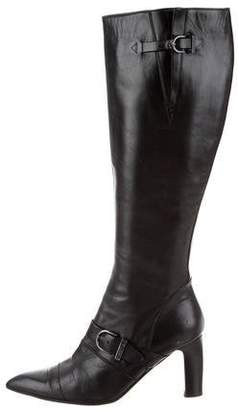 Chanel Leather Knee-Length Boots