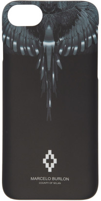 Marcelo Burlon County of Milan Black and Silver Wings iPhone 8 Case