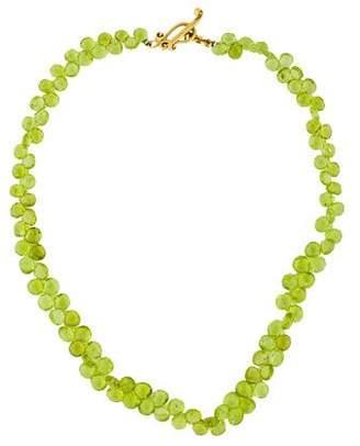 Robin Rotenier 18K Peridot Bead Strand Necklace