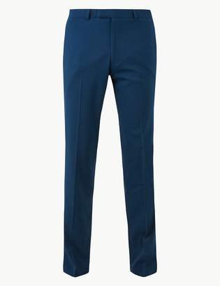 Marks and Spencer Blue Slim Fit Trousers