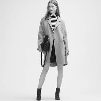 Maje Double-sided wool coat