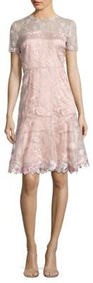 Elie Tahari Inez Embroidered Dress $498 thestylecure.com