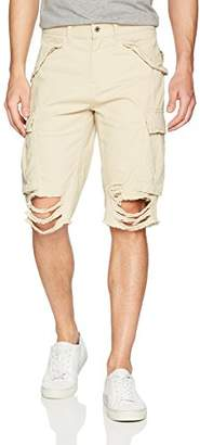 GUESS Men's Carter Destroyed Cargo Short