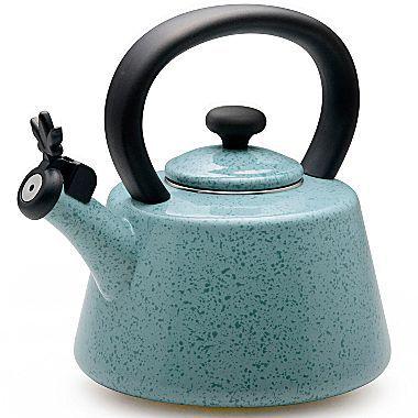 Paula Deen 2-qt. Enamel on Steel Whistle Tea Kettle
