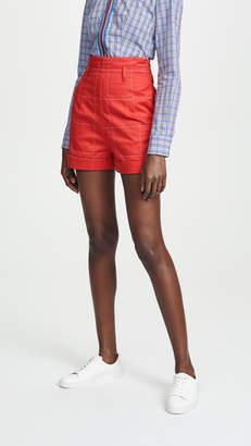Stella Jean Grid Shorts