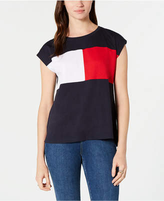 Tommy Hilfiger Colorblock Cap-Sleeve T-Shirt