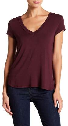 H By Bordeaux Double V-Neck Cap Sleeve Tee (Petite)