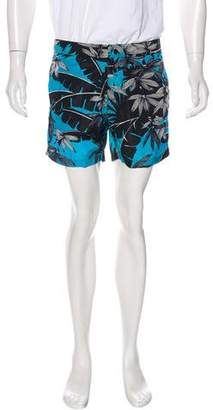 Moncler Floral Printed Swim Trunks w/ Tags