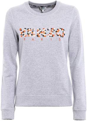Kenzo Floral Logo Embroidered Sweatshirt