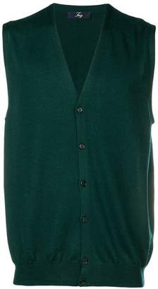 Fay v-neck sleeveless cardigan