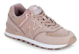 New Balance WL574 Nubuck Sneakers