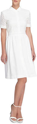Catherine Malandrino Izzy Lace Shell Dress, White