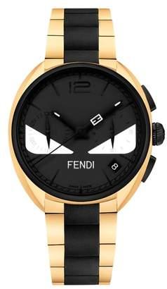 Fendi Momento Bug Chronograph Bracelet Watch, 40mm