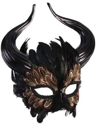 Minotaur Forum Novelties Inc. Mythical Creature Greek Masquerade Mask Horns Bull Man Feathers Fantasy