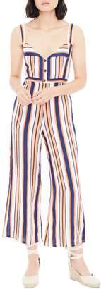 Faithfull The Brand Scout Stripe Sleeveless Linen Jumpsuit