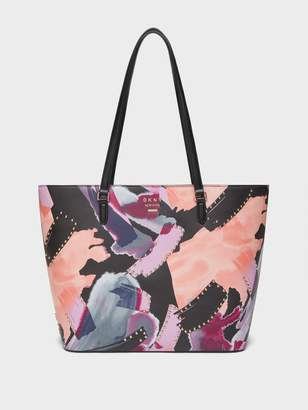DKNY Whitney Large Brush Print Tote