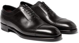 Brioni Black Leather Oxford Shoes