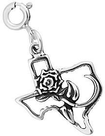 QVC Sterling Rose of Texas Charm