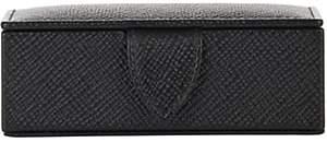 Smythson Panama Mini Cufflink Box-Black