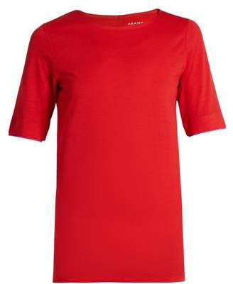 Aeance - Wool Blend Running T Shirt - Womens - Red