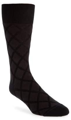 John W. Nordstrom R) Diamond Grid Socks