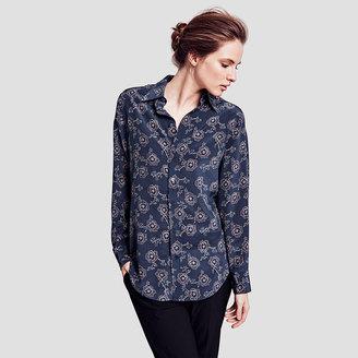 Darcy Floral Silk Shirt $250 thestylecure.com