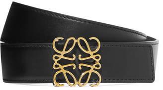 Loewe Embellished Leather Belt - Black