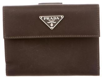 pradaPrada Tessut Compact Wallet