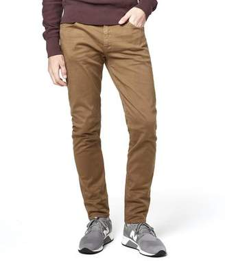 Todd Snyder 5-Pocket Garment-Dyed Stretch Twill in Caramel