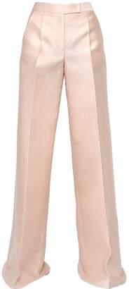 Antonio Berardi Scuba & Silk Wide Leg Pants