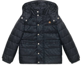 Children's GG nylon padded jacket $820 thestylecure.com