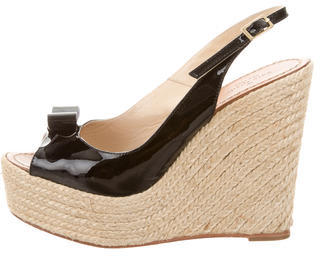 Kate Spade Kate Spade New York Patent Leather Espadrille Wedges
