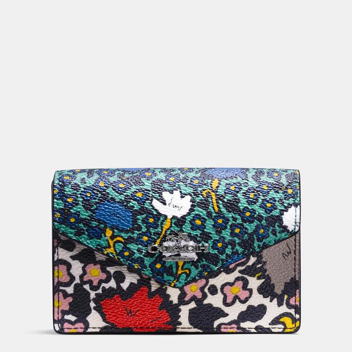 Coach  COACH Coach Envelope Card Case In Yankee Floral Print Canvas