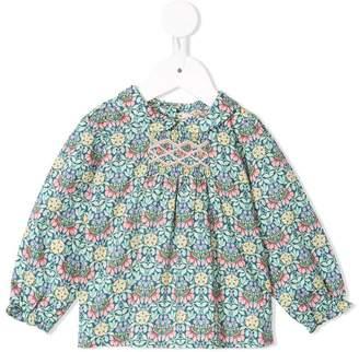 Bonpoint floral smocked blouse