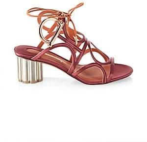 bd20c008f530 Salvatore Ferragamo Women s Detailed Gancio Flower Heel Vinci Sandals
