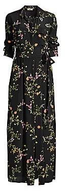L'Agence Women's Cameron Silk Floral Shirtdress