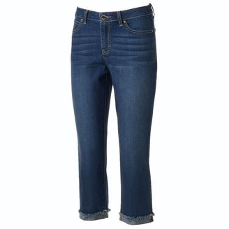 Women's Jennifer Lopez Rocking Cuffed Capri Jeans $50 thestylecure.com